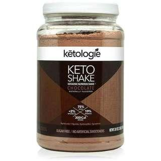 [SINGLES] Ketogenic Meal Replacement - Ketologie Chocolate Keto Protein Shake - 1 MEAL OR 1/2 MEAL