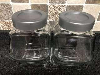 Ikea glass containers