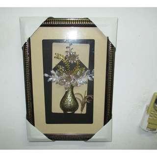 3D Picture Hanging Frame Decor Black Gold Silver