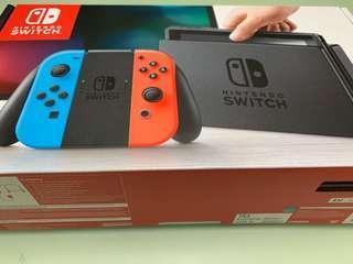 🚚 Nintendo switch console[bnib], neon, local set, 1 yr warranty with local maxsoft