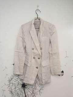 white silver blazer