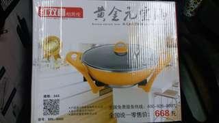 全新韓式電熱全能鍋一個,朋友送不合用,大陸插頭格式