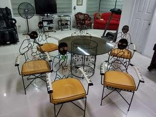 Art Nouveau Dinning Table and Chairs