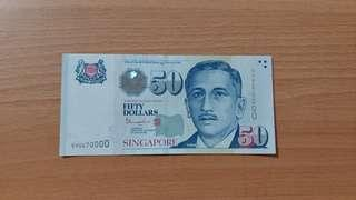 Lucky Number $50 note