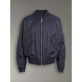 BurBerry Men Navy Bluer Nylon Zip Jacket
