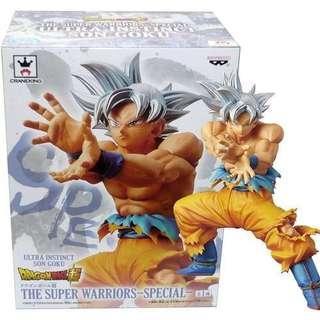 🚚 Dragon Ball Figure 18cm Goku Ultra Instinct Super Warriors
