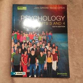 VCE Units 3 and 4 Psychology Jacaranda Textbook