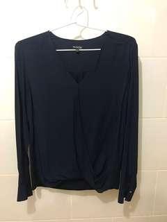 Massimo duty navy blouse