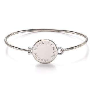 💚現貨💚 Marc by Marc Jacobs Big Logo Hinge Bracelet 銀色 手環