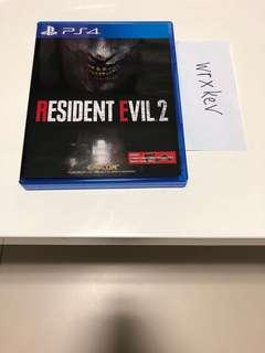 Playstation 4 Resident Evil 2 Remake
