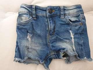 Denim Shorts Cotton On Kids Size 2, fits 6-12month