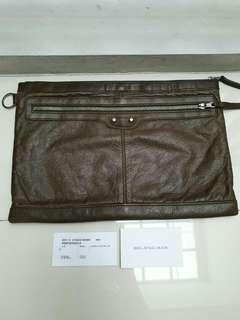 Vgc Balenciaga Clutch Large Brown 2011