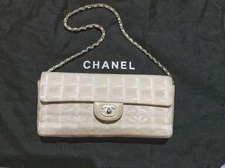 Chanel Travel Line Beige Flap Chain Bag
