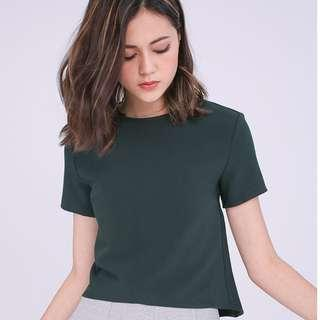 🚚 (S) RunwayBandits Bendell Boxy Top in Forest Green