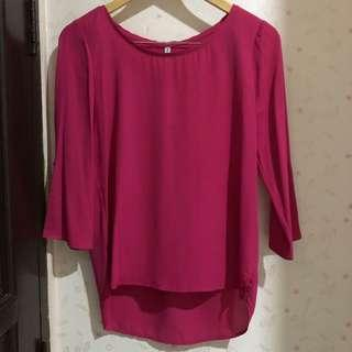 Stradivarius pink top