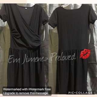 Black Dress (Plunging Neckline)