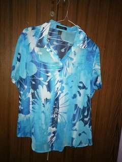 Blue flower shirt