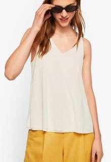 Zara white basic top