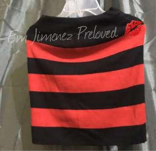 Black Red Stripes Skirt (Cardigan)