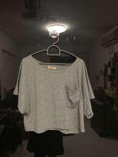 🚚 grey crop top