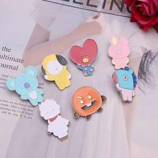 BT21 Enamel Pin