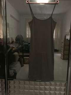 🚚 black ribbed body con dress