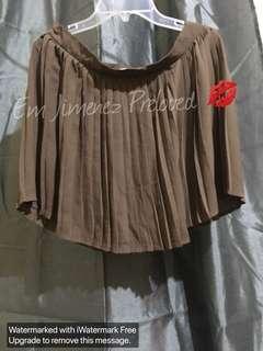 Pleated Skirt (brown)