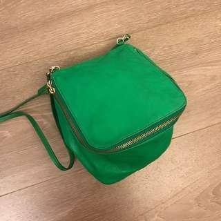 激減 Marc Jacobs green leather cube bag! Chanel Chloe Celine Givenchy Lanvin Valentino Kate Spade 真品手袋