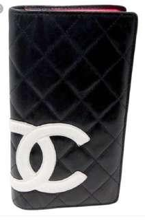Authentic Chanel cambon long quilted wallet
