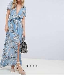 ASOS 藍色連身長裙
