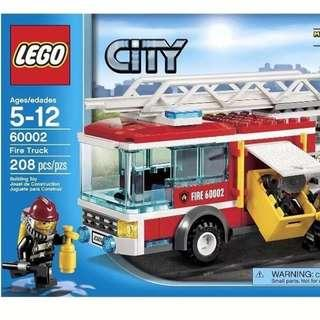 NEW SEALED LEGO City Fire Truck 60002