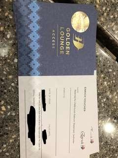 Golden lounge passes