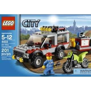 NEW SEALED LEGO City Dirt Bike Transporter 4433