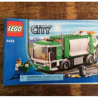NEW SEALED Lego City 4432 Garbage Truck 208pcs