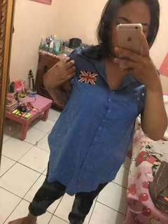 Blue top / kemeja / shirt