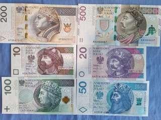 Poland banknotes