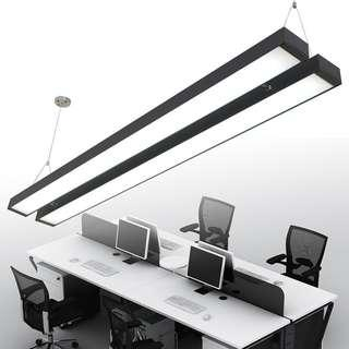 Thin LED ceiling lights black/white(can hang too)