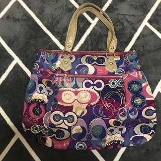 Coach poppy authentic shoulder bag tote