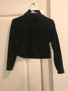 mendocino turtle neck cropped sweater