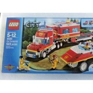 New Sealed LEGO City Fire Transporter 4430