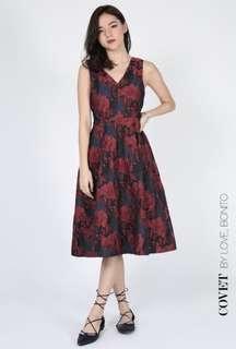 Covet Rheda Jacquard Dress