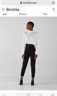 🚚 Bershka Black Paperbag Trousers