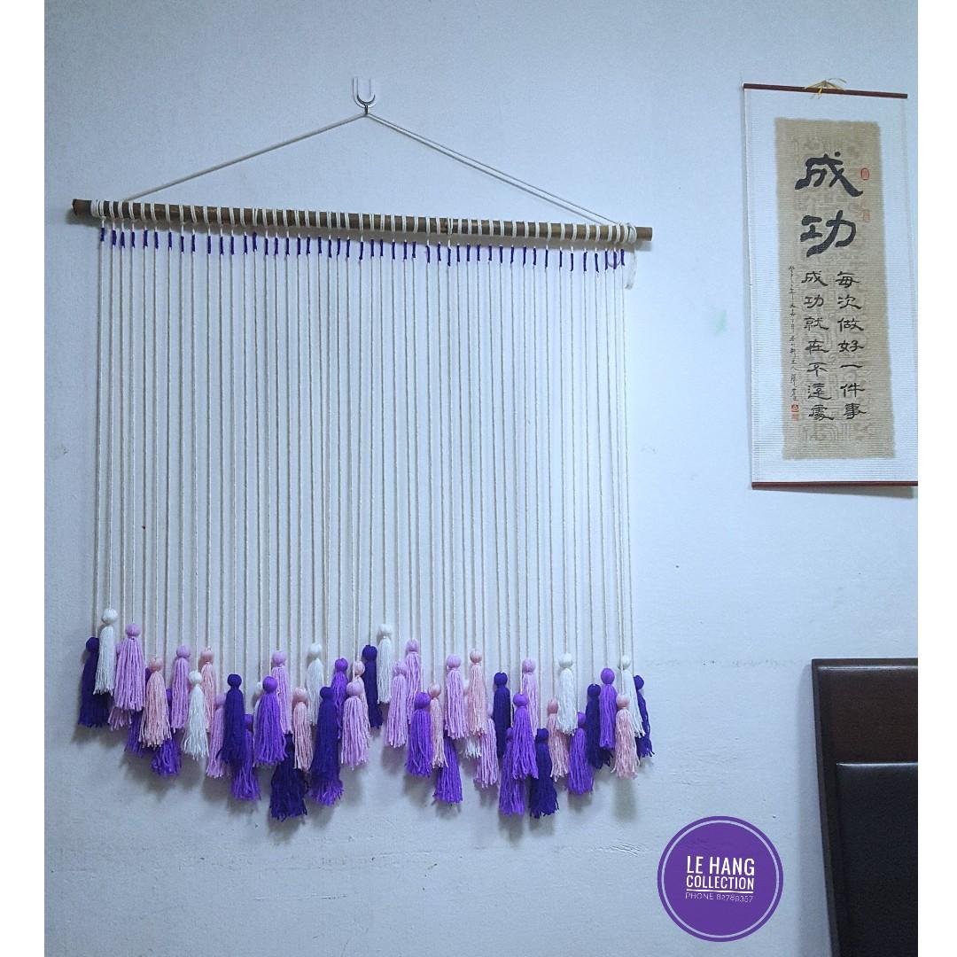 Coloured Tassels Wall Hanging Decor Door Curtain