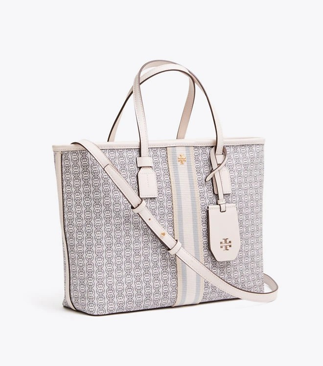 1d4d57a15 ❤ Tory Burch Gemini Link Canvas Small Tote, Women's Fashion, Bags ...