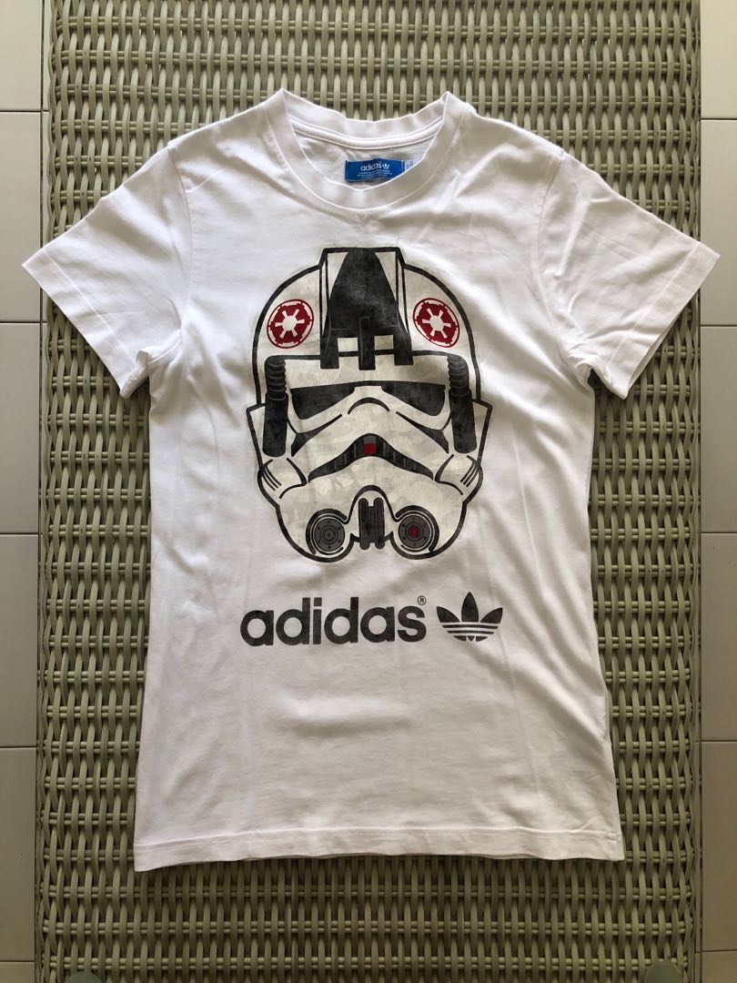 51dec2f42 Adidas Originals💯% Authentic white Star Wars 'Stormtrooper' t-shirt ...