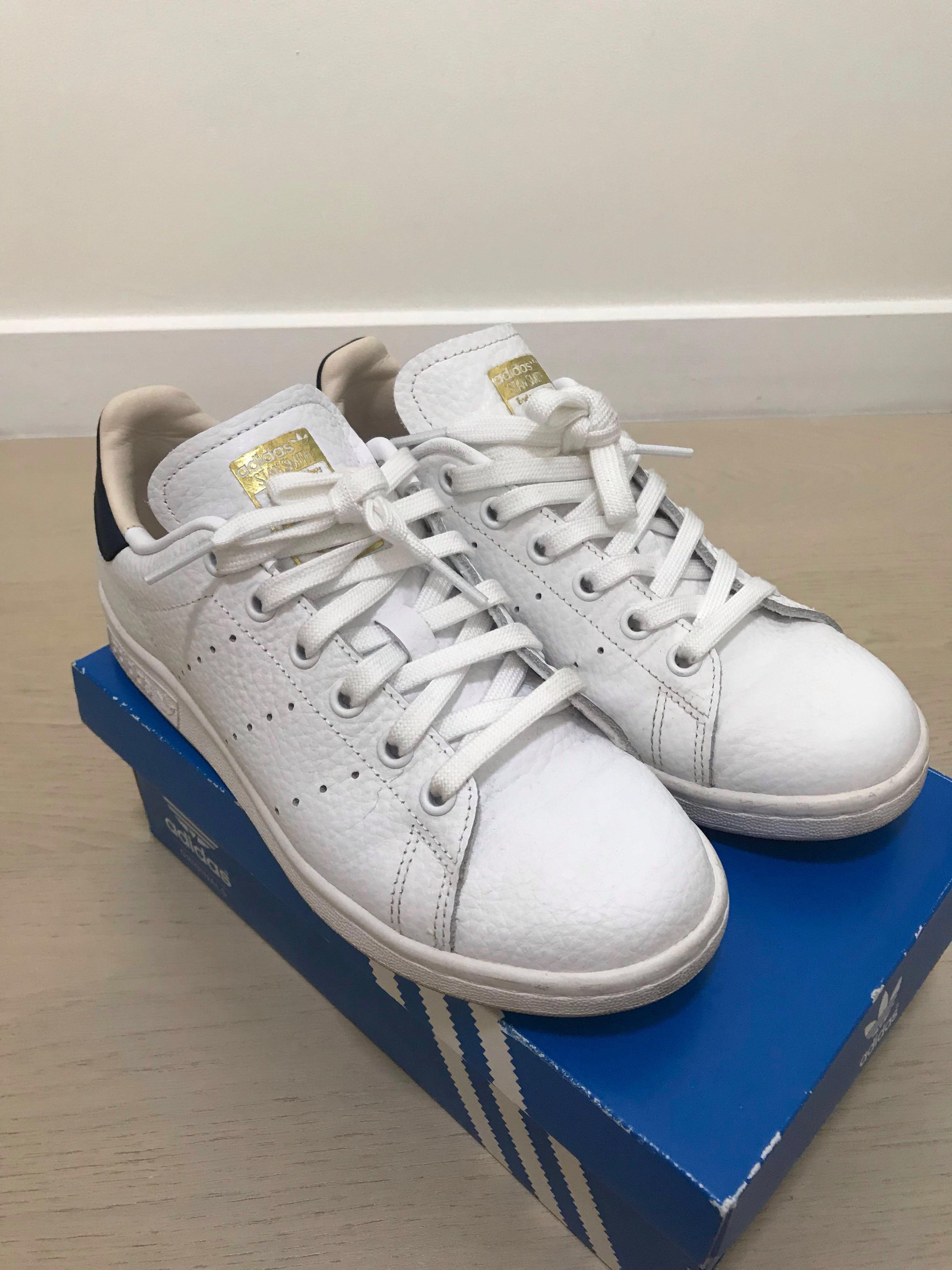 watch 76fd1 67ed6 Adidas Stan Smith EU 37.5 Navy Blue , Women's Fashion, Shoes ...