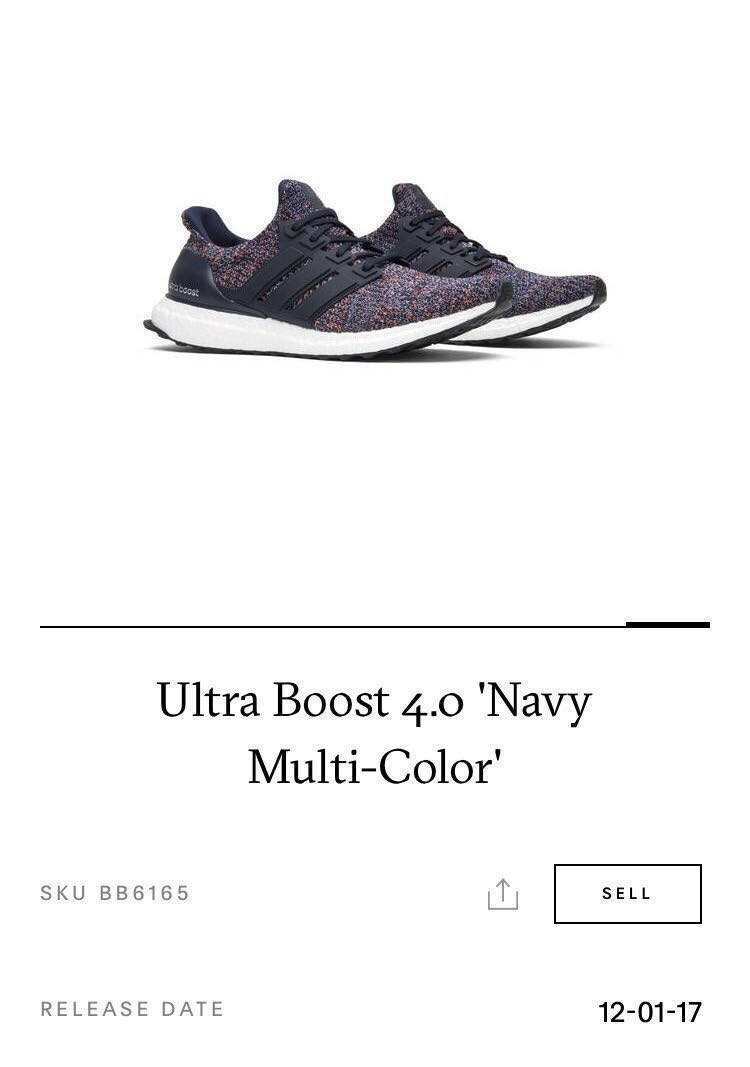 510f5df2d80 Adidas Ultra Boost 4.0 Navy Multi-Color