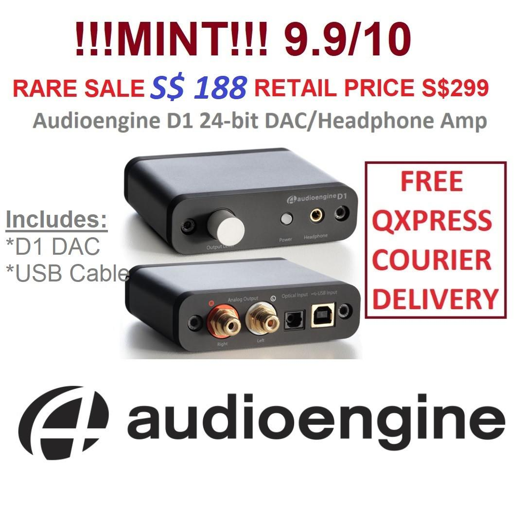 AudioEngine D1 24-Bit DAC Headphone Amplifier, Electronics
