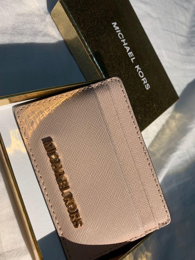 e1afdfe648bc Authentic Michael Kors Card case   Wallet Pink Ballerina