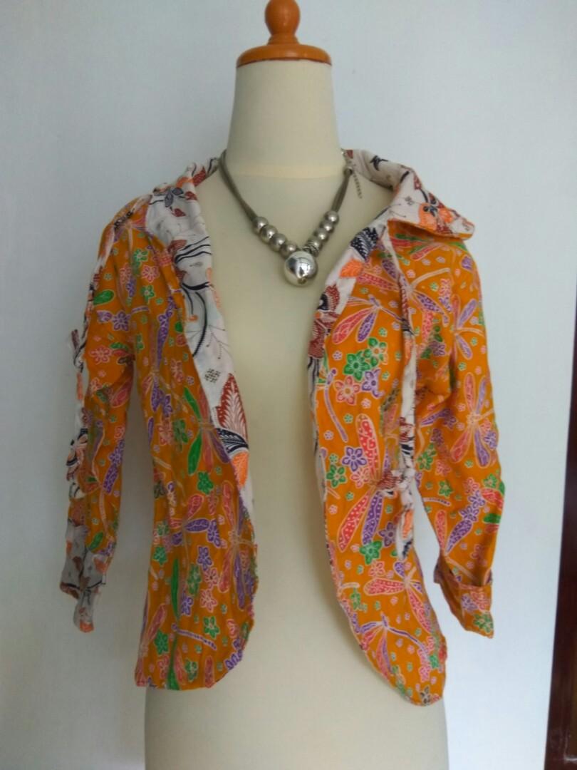Batik Rompi Cardigan Baju Atasan Preloved